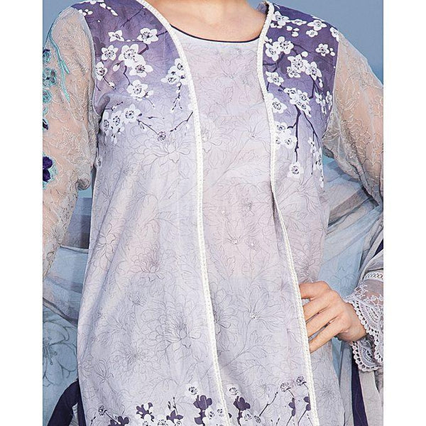 Almirah Purple Unstitch 3 Piece LAWN For Women - Spring Summer Collection Vol.01 2018 Tajori