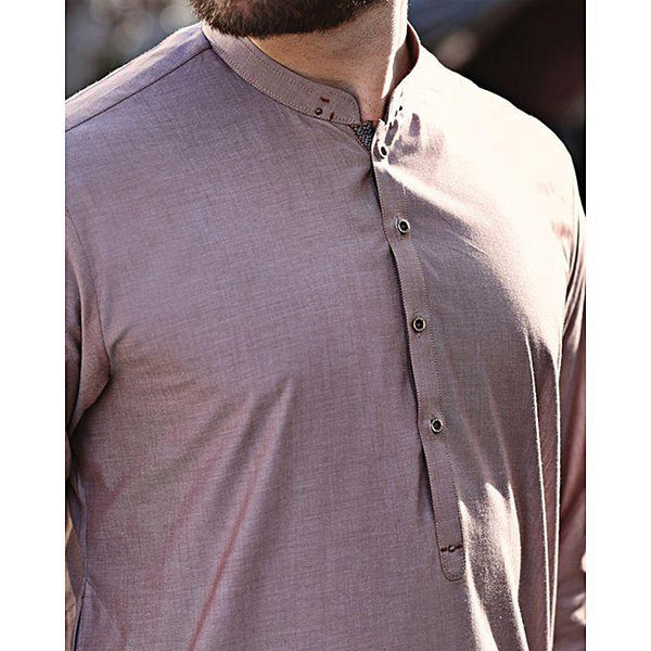 Almirah Rose Grey Blended Stitched Kurta-Winter Collection Vol.04 for Men Tajori