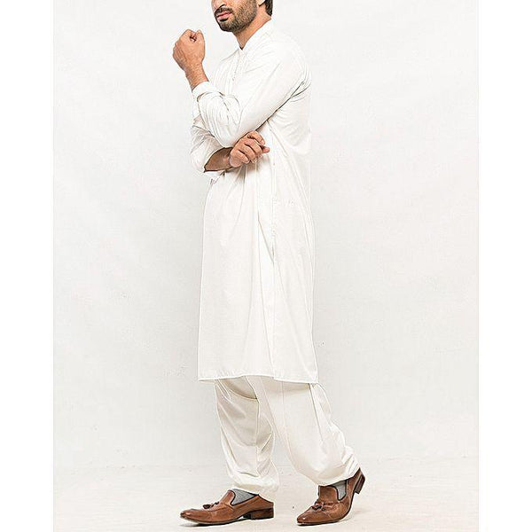 Almirah White-Stitched Al-Cuts & Sew Regular/Sc-Winter Collection Vol.04 for Men Tajori