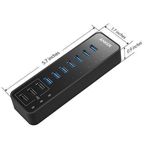 Anker 10 Port 60W Data Hub with 7 USB 3.0 Ports Tajori