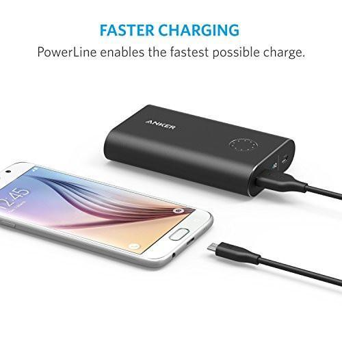 Anker [4-Pack] PowerLine Micro USB (1ft) - Charging Cable for Samsung, Nexus, LG, Android Smartphones and More (Black) Tajori