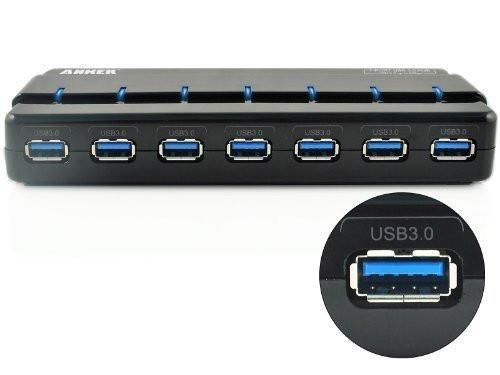 Anker 7 Port Usb 3 0 Data Hub With 36w Power Adapter For Mac Pc