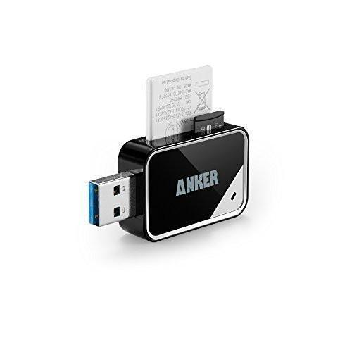 Anker 8-in-1 USB 3.0 Portable Card Reader for SDXC, SDHC, SD, MMC, RS-MMC, Micro SDXC, Micro SD, Micro SDHC Card and UHS-I Cards Tajori