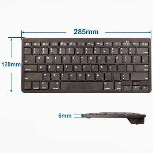 "Anker Bluetooth Ultra-Slim Keyboard for iPad Air 2 / Air, iPad Pro, iPad mini 4 / 3 / 2 / 1, iPad 4 / 3 / 2, New iPad 9.7""(2017), Galaxy Tabs and Other Mobile Devices (Black) Tajori"