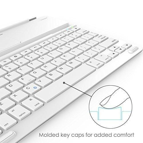 "Anker Keyboard Cover for iPad 4 / 3 / 2 Bluetooth with 6-Month Battery Life Between Charges and Comfortable Low-Profile Keys (Not Compatible with iPad mini 4 / New iPad 9.7""(2017) ) Tajori"