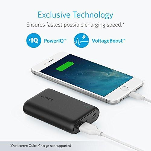 Anker PowerCore 10000, One of the Smallest and Lightest 10000mAh External Batteries, Ultra-Compact, High-speed Charging Technology Power Bank for iPhone, Samsung Galaxy and More Tajori