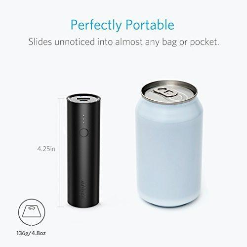 Anker PowerCore 5000, Ultra-Compact 5000mAh Power Bank with High-Speed Charging Technology Tajori