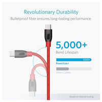 Anker Powerline + USB-C to USB 3.0 Cable 3ft - Red (A8168091) Tajori