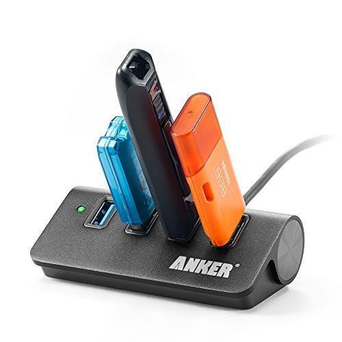 Anker USB 3.0 4-Port Portable Aluminum Hub with 2ft USB 3.0 Cable Tajori