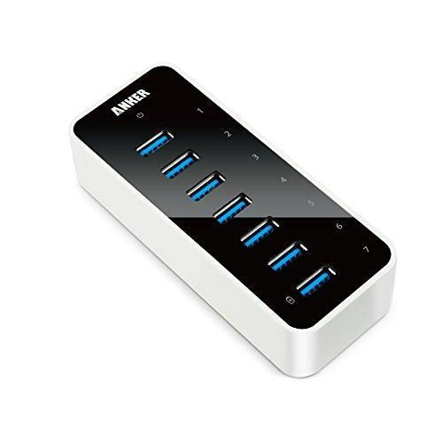 Anker USB 3.0 7-Port Hub with 1 BC 1.2 Charging Port up to 5V 1.5A, 12V 3A Power Adapter Included Tajori