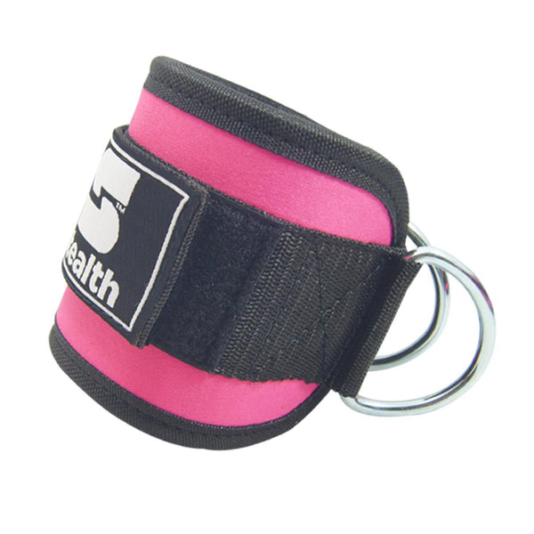 Ankle D ring Straps 4 Inches wide-Pink Tajori