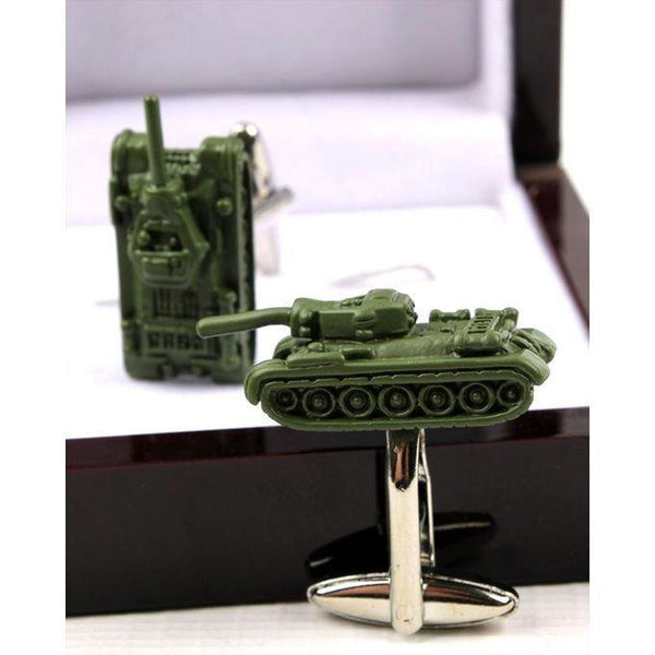 Army Tank Cufflinks For Men's Tajori