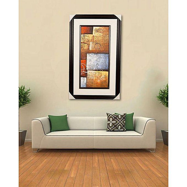 "Artist Made Dark Brown Wall Decor Painting - 20x33"" Tajori"