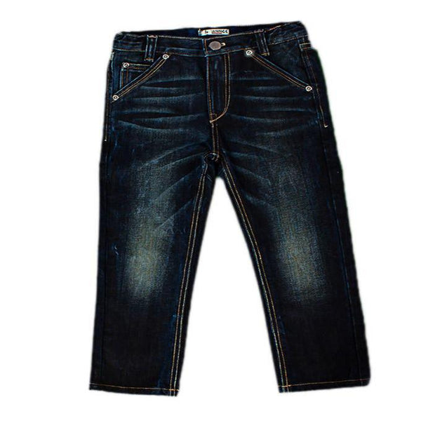 Asset Dark Blue Jeans Vintage Look for Boys Tajori