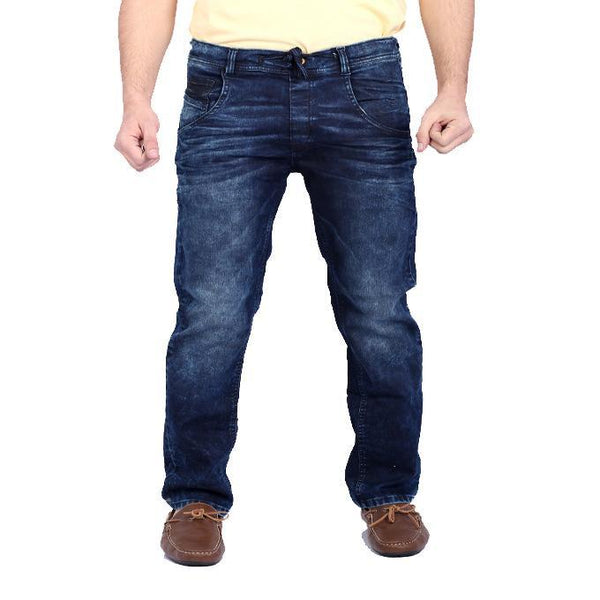 Asset Dark Blue Move Jeans W Bold Whiskers For Men Tajori