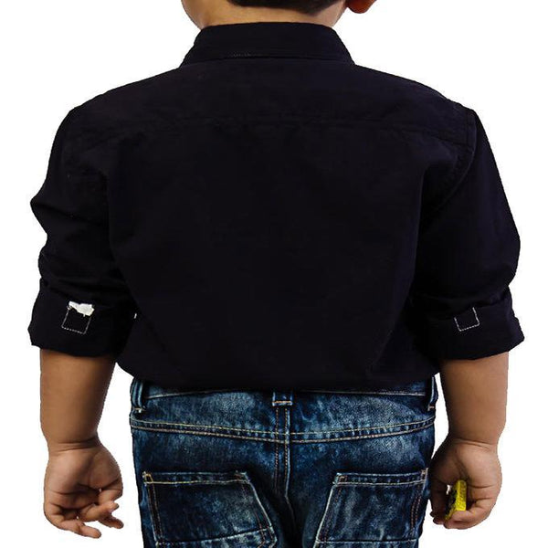 Asset Dark Blue Stars Shirt for Boys - 4 yrs Tajori