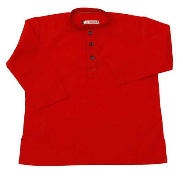 Asset Ketchup Red Cotton Kurta for Boys - 9 months Tajori