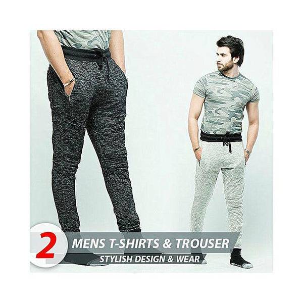 Aybeez Pack of 3 Trousers & T-shirt For Men Tajori