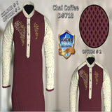 Barat Dress Men Maroon Color Cream Sleeves |CC 718-5| Tajori