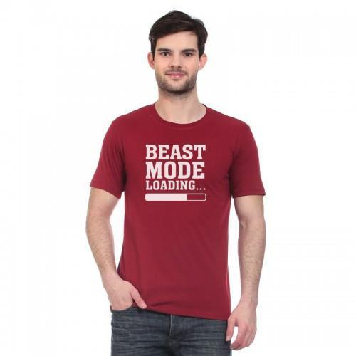Beast mode printed short sleeves t-shirts for men Tajori