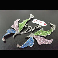 Beautiful Butterfly Earrings with Amazing Colours Tajori