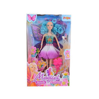 Beautiful Butterfly Princess Doll Set - 13x6 Inch - Neon Tajori