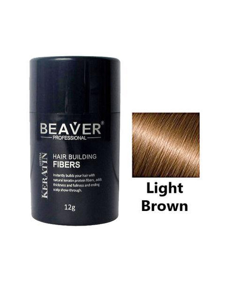 Beaver Professional Hair Building Fiber Light Brown 12g Tajori