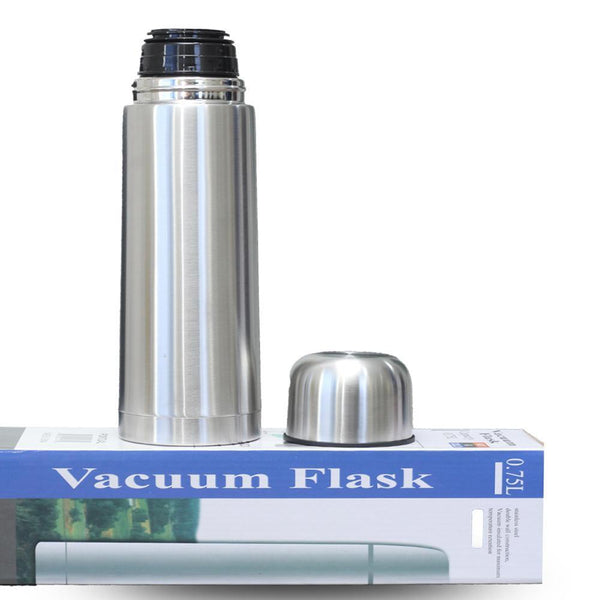Best Selling Hot And Cold Stainless Steel Vacuum Flask Water Bottle - Silver ( 0.75 Litre) Tajori