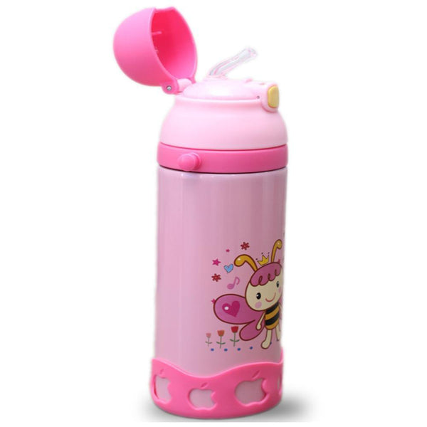 Best selling School Water Bottle for Kids Vacuum Flasks Pink (0.5 Litre) Tajori