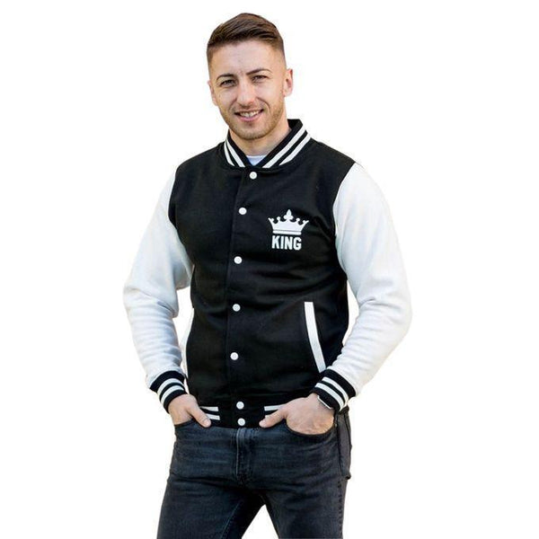 Black base ball jacket for Men Tajori