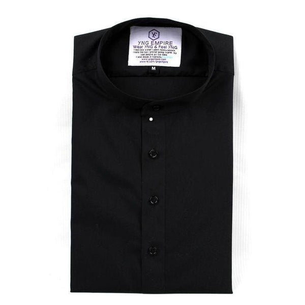 Black Cotton Kurti Style Shirts For Men Tajori