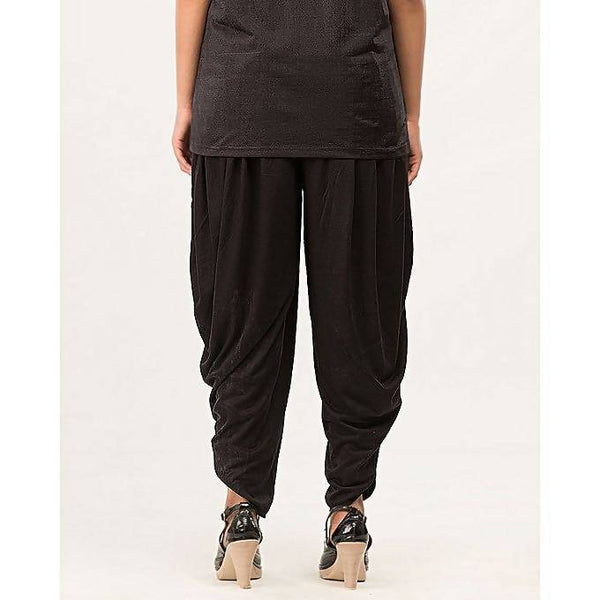 Black cotton Patiala Shalwar For Women Tajori