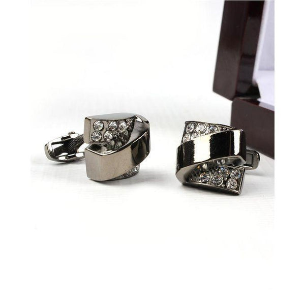 Black Cufflinks for Men Tajori