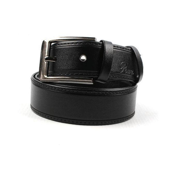 Black Leather Belt for Men Tajori