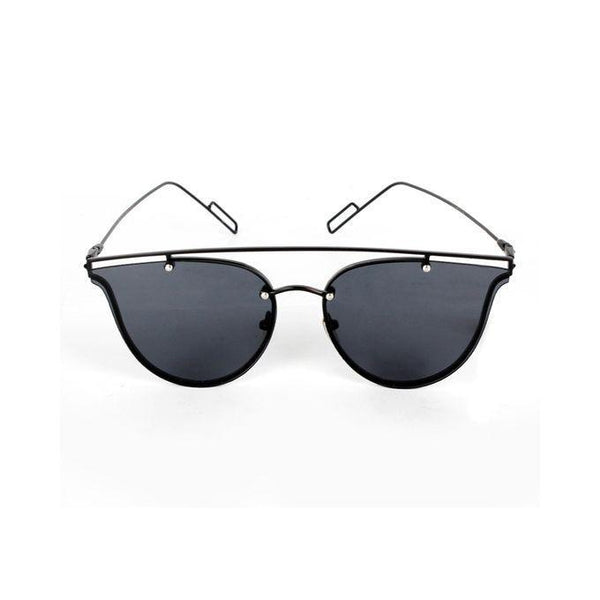 Black Stainless Steel Aviator Sunglasses for Men Tajori