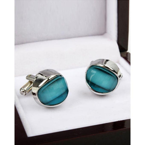 Blue Shaded Cufflinks for Men Tajori