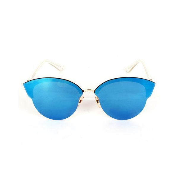 Blue Stainless Steel Wayfarer Sunglasses for Women Tajori