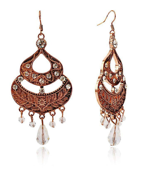 Brown Earings-JP-970 Tajori