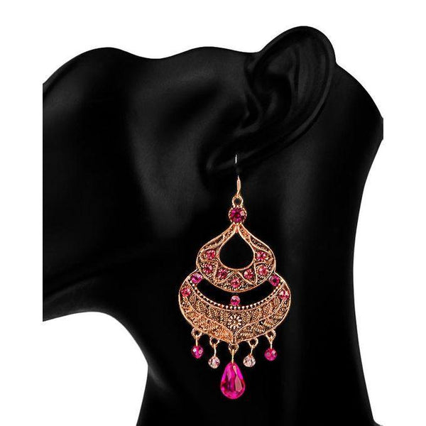 Brown Earings-JP-976 Tajori