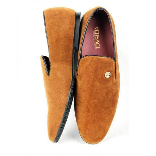 Camel Suede Shoes For Men Tajori