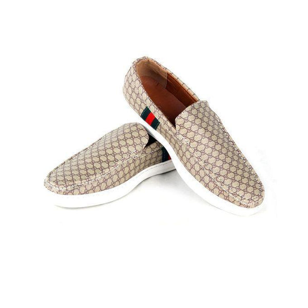 Canvas Rubber Slip-ons For Men Tajori