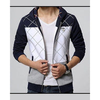 Casual Slim Fit Hooded Hoodie for Men Tajori