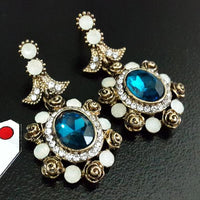 Charming Design Stones Earrings Tajori