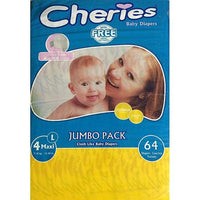 Cheries Smarty Baby Diaper - L (Size 4/Belt/7-18KG/64Pcs) Tajori