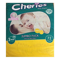 Cheries Smarty Baby Diaper - M (Size 3/Belt/4-10KG/72Pcs) Tajori