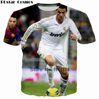 Cr7 Realmadrid graphical round neck half sleeves t-shirt for men Tajori
