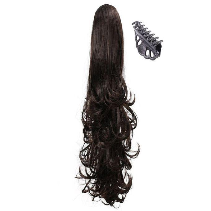 Buy Curly Synthetic Clip In Claw Ponytail Hair Extension Online In