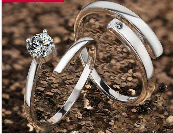 Diamond Couple Platinum Ring Tajori