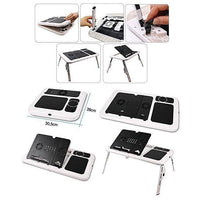 E Table (Table With Laptop Cooling Pad) Tajori