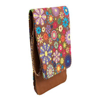 Elegant Floral Clutch for Women with Long Chain - Dark Brown Tajori